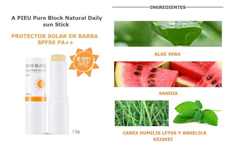 A PIEU Pure Block Natural Daily Sun Stick SPF50